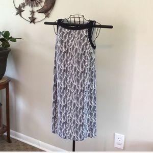 Ann Taylor Blue and White Sleeveless Dress XXS